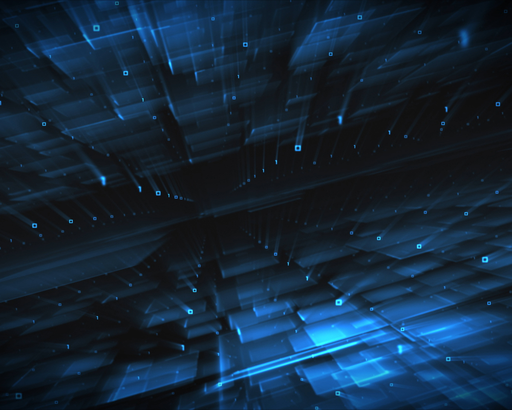 Abstract blue squares background-1